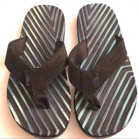 OP Shoes | Rubber Flip Fl Black Stripes